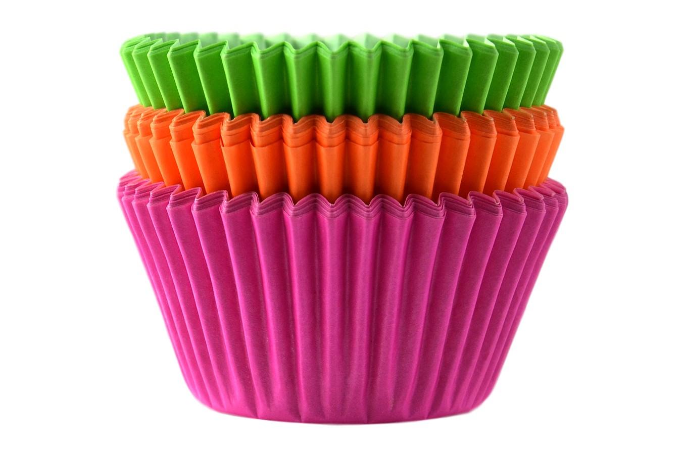 Caissettes à cupcake – Néon – Lot de 75