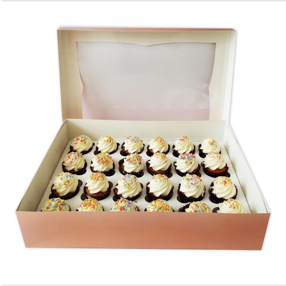 Boîte pour 24 cupcakes – Or Rosé