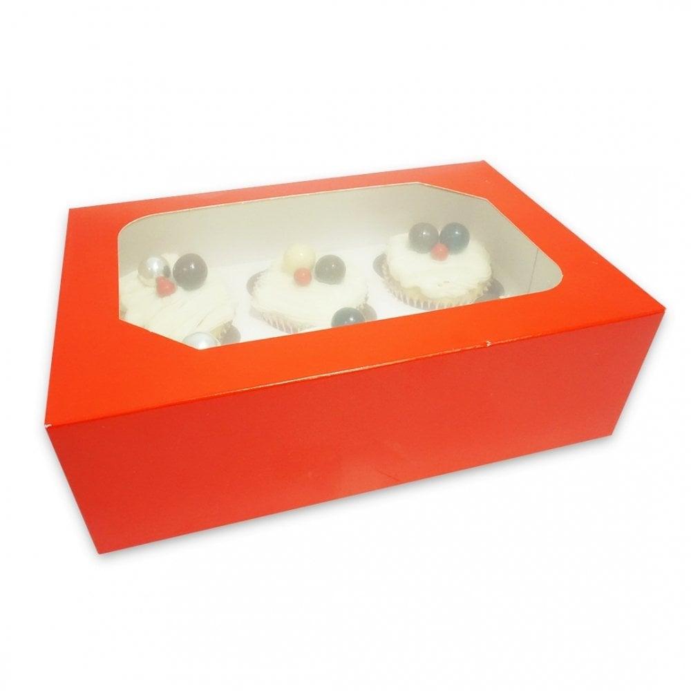 Boîte pour 6 cupcakes – Rouge