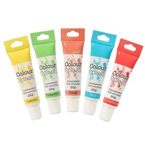 Colorant alimentaire en gel – Pastel - Lot de 5