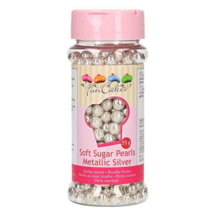 Perles en sucre 55 g – Argent