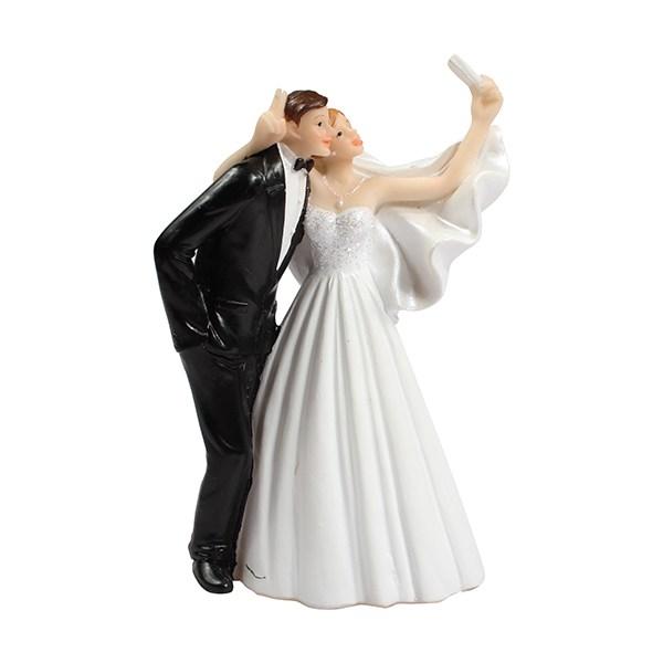 Figurine de Mariage - Selfie de Couple