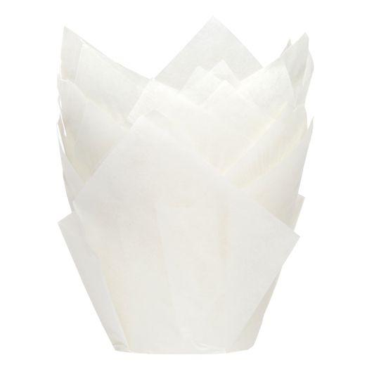 Caissettes à cupcake TULIP – Blanc - Lot de 36