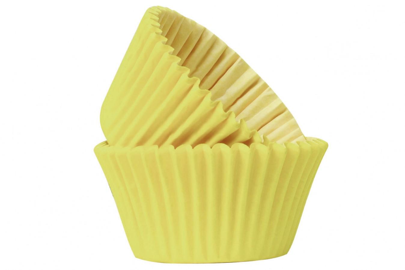 Caissettes à cupcake - Jaune - Lot de 50