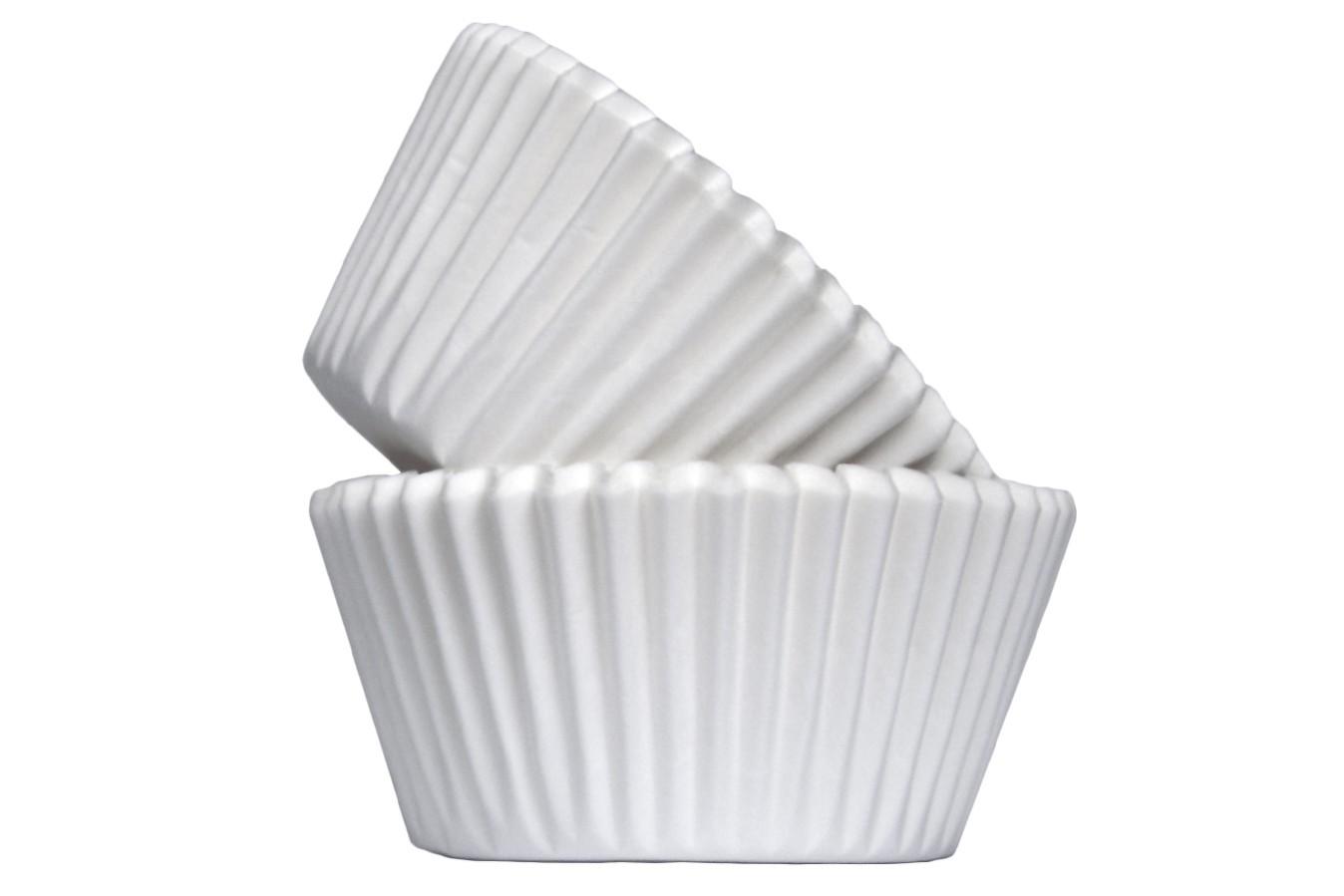Caissettes à Cupcake - Blanc - Lot de 50