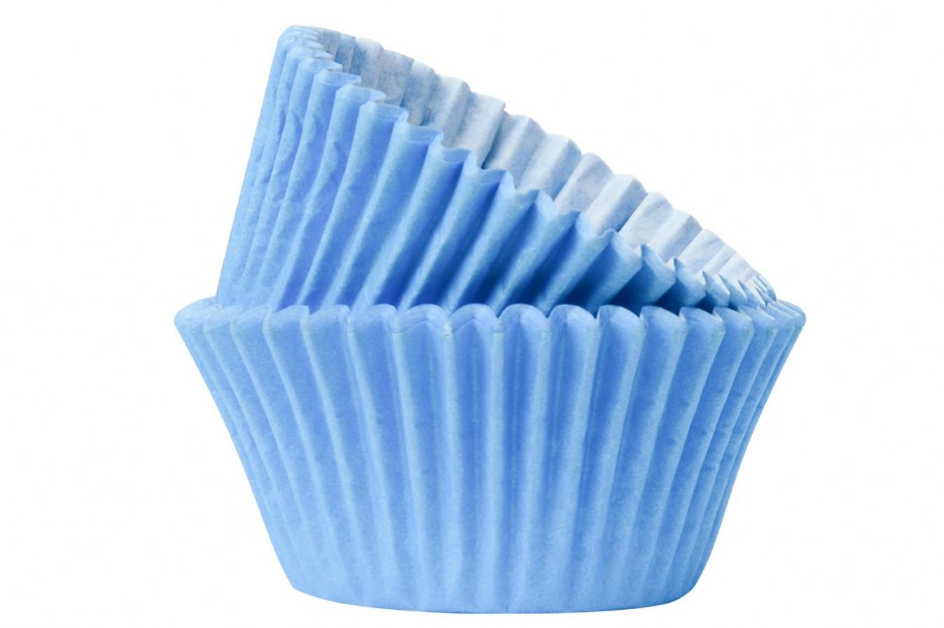 Caissettes à cupcake - Bleu ciel - Lot de 50