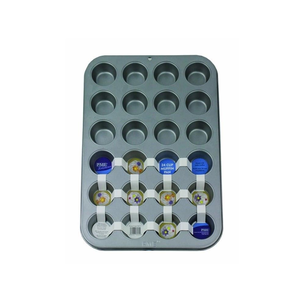 Moule à Mini Cupcakes – 24 cavités