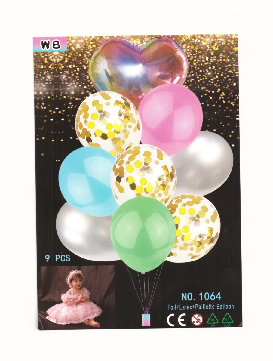 Ballons – Divers - Lot de 9
