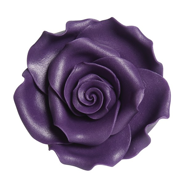 Fleur en sucre - Rose 6.3 cm - Violet