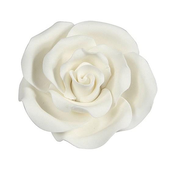 Fleur en sucre - Rose 5 cm - Blanc