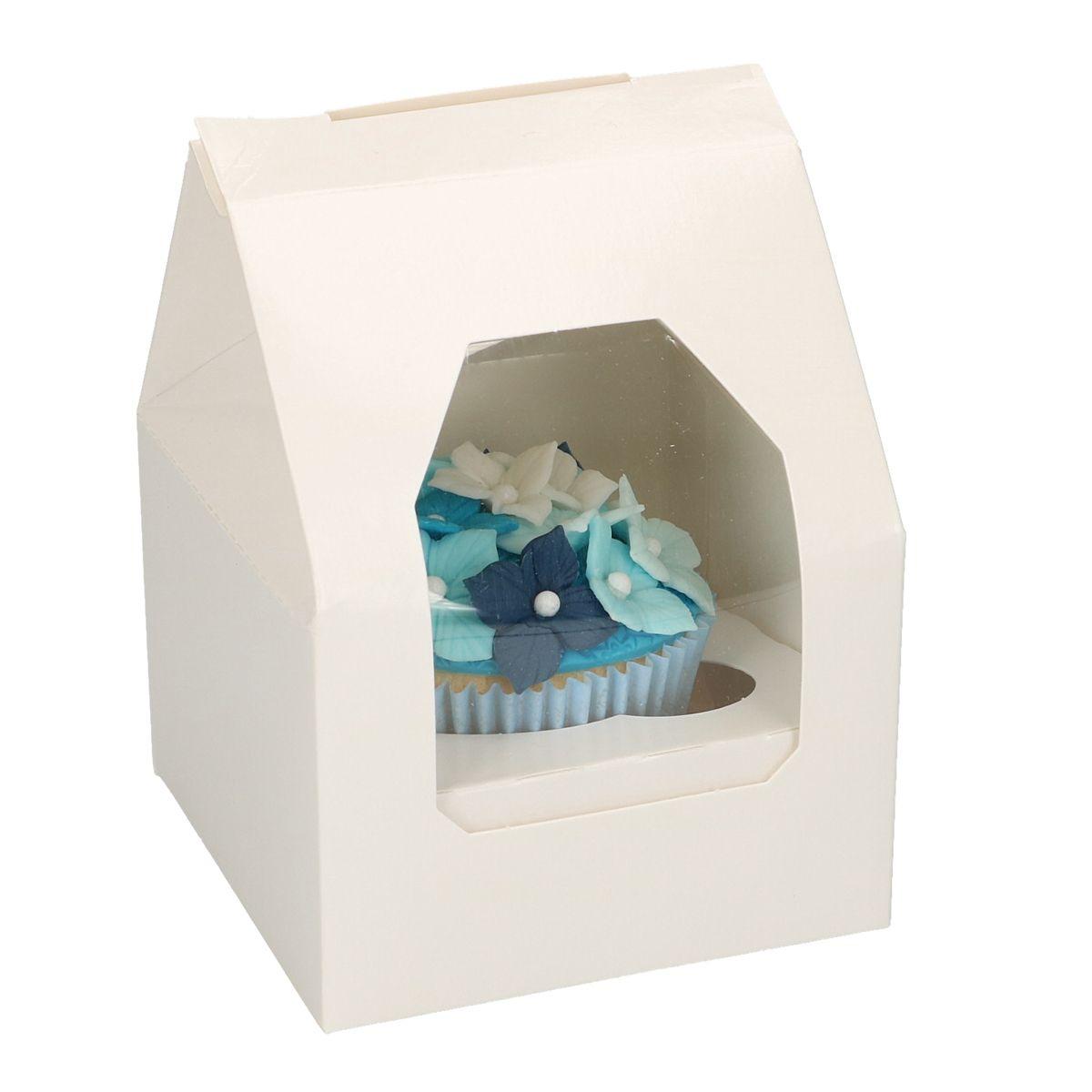 Boîte pour 1 cupcake - Blanc - Lot de 3