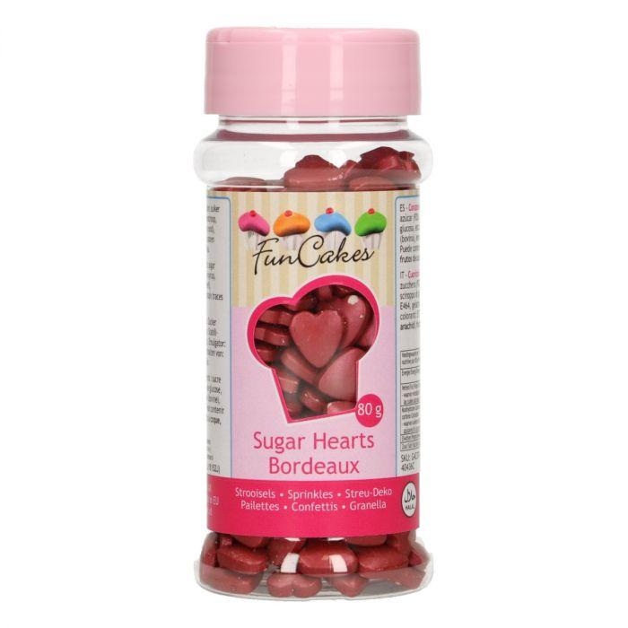 Confetti 80 g - Coeur -  Rouge Bordeaux