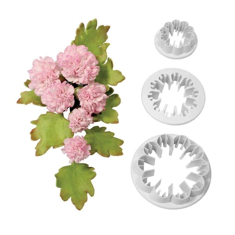 Découpoir - Fleur de carnation - Lot de 3