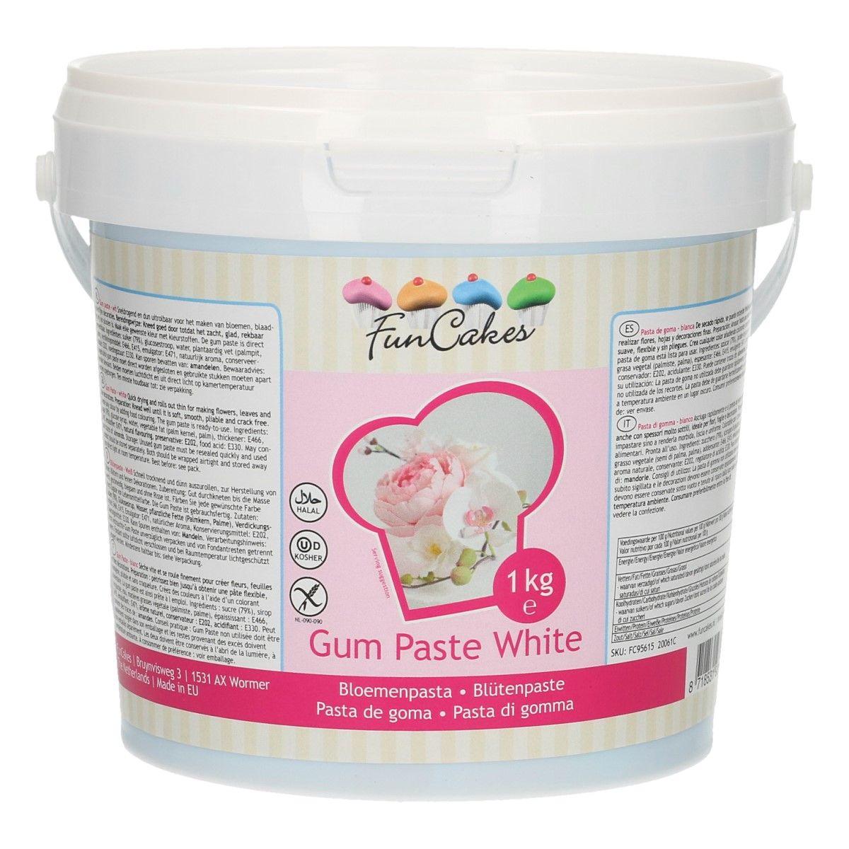 Gumpaste 1 kg – Blanc