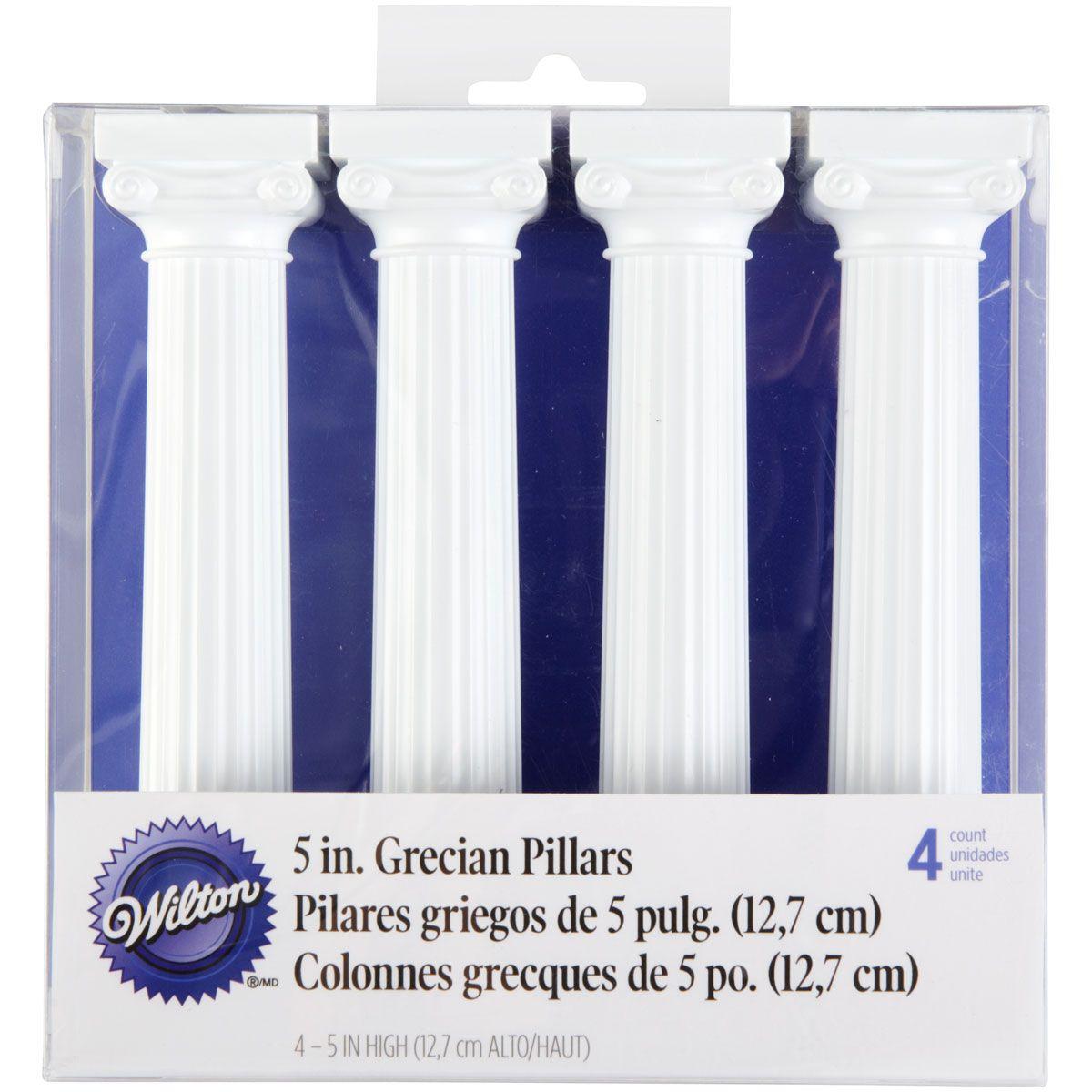 Colonnes grecques 12.5 cm - Lot de 4
