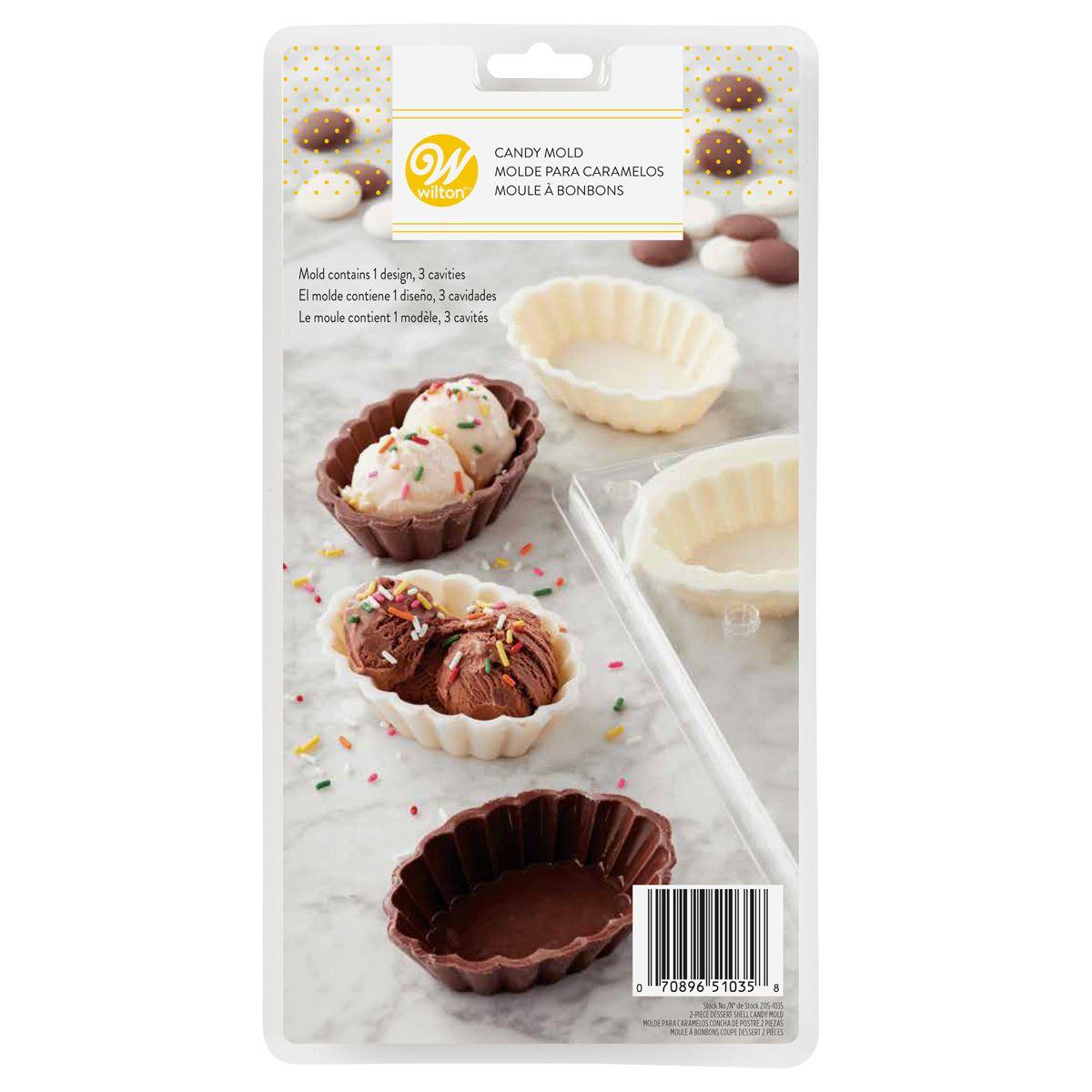 Moule pour chocolat - 3 alvéoles