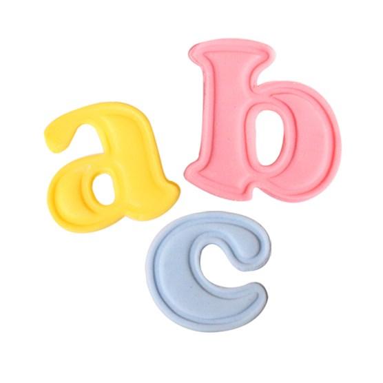 26 Mini emportes pièces à poussoirs - Lettres minuscules