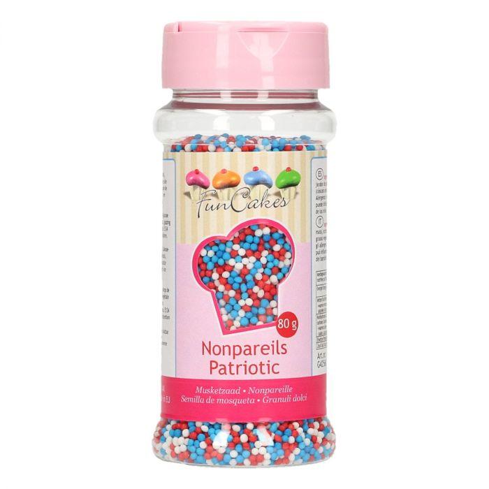 Mini perles en sucre 80 g - Patriotic