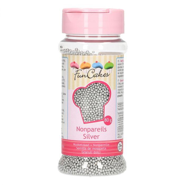Mini perles en sucre 80 g - Argent