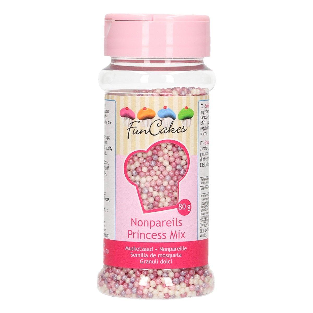 Mini perles en sucre 80 g - Princesse