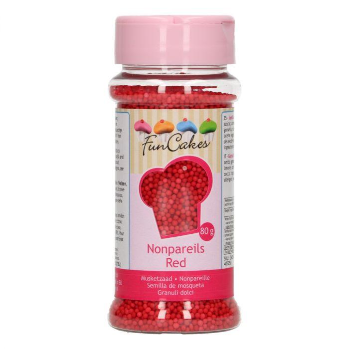 Mini perles en sucre 80 g - Rouge