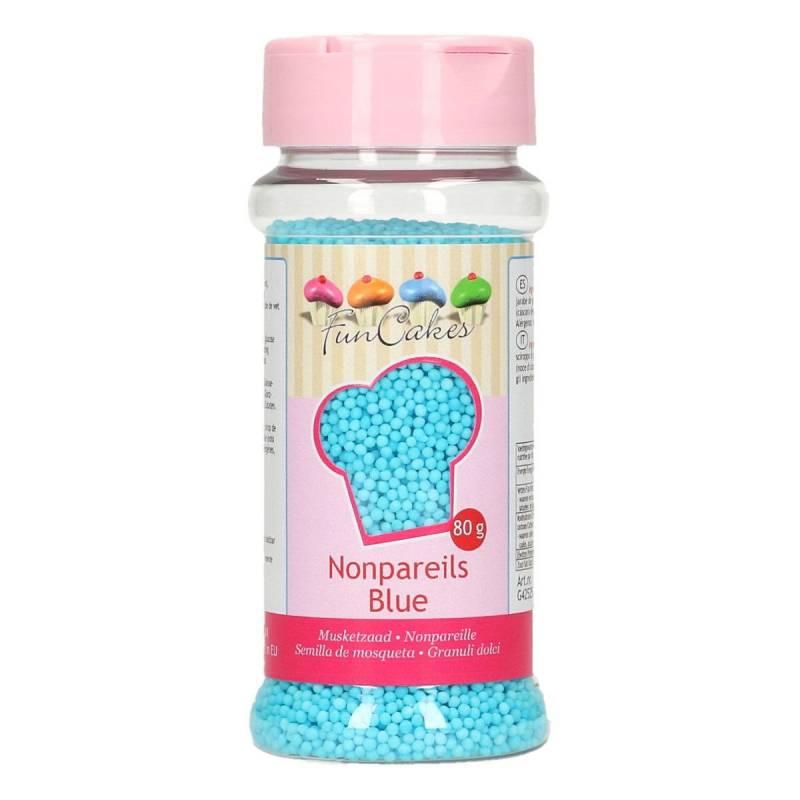 Mini perles en sucre 80 g - Bleu