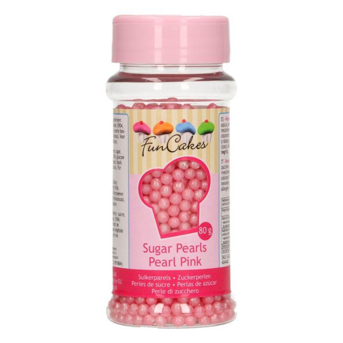 Perles en sucre 80 g – Rose