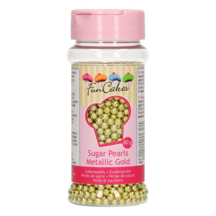 Perles en sucre 80 g – Or métallique