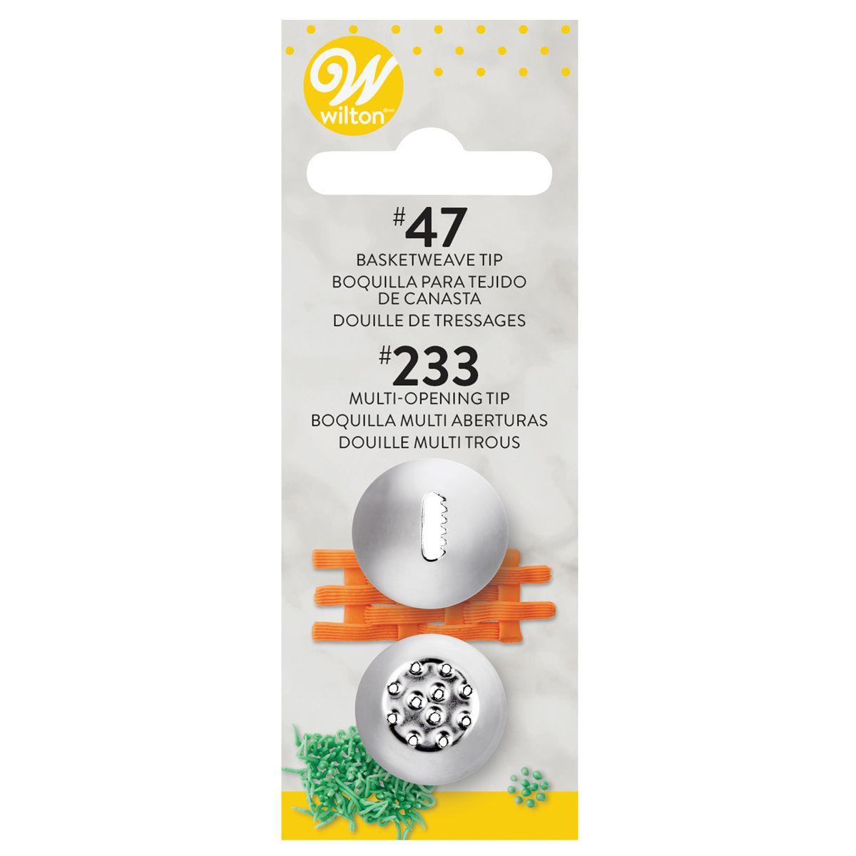 Douille pâtissière – #47 – #233 - Lot de 2