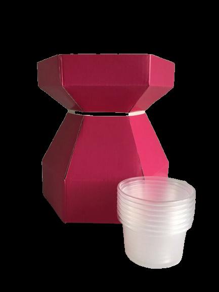 Boîte à bouquet pour cupcake - Rose Chatoyant