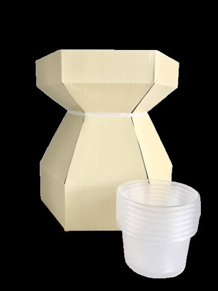 Boîte à bouquet pour cupcake – Crème
