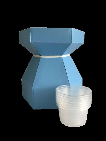 Boîte à bouquet pour cupcake - Bleu