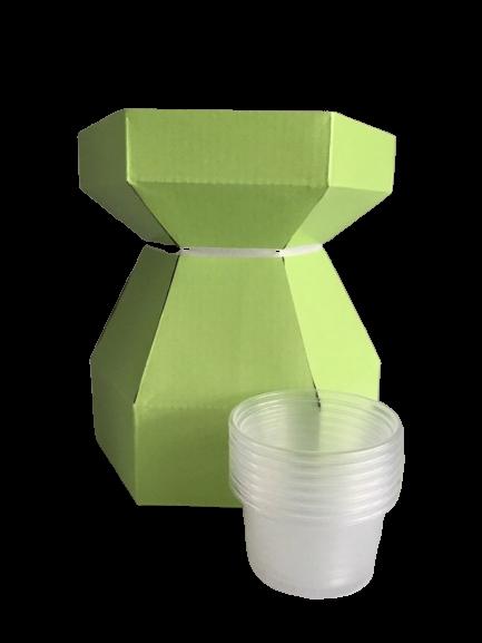 Boîte à bouquet pour cupcake - Citron vert