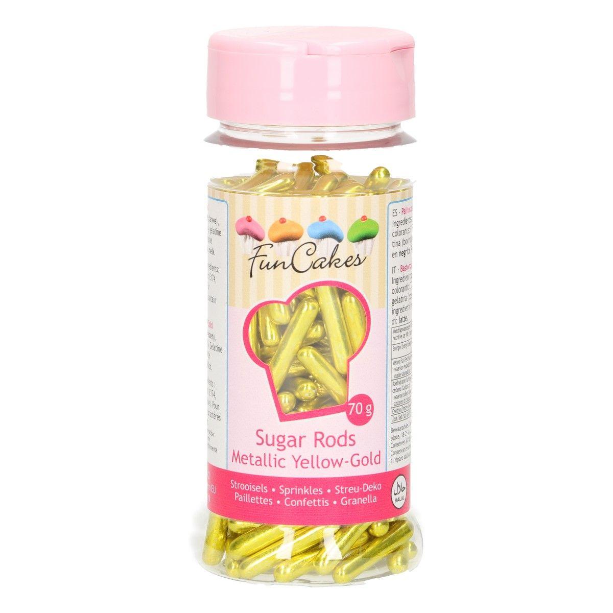 Confetti 70 g – Brins XL – Or jaune