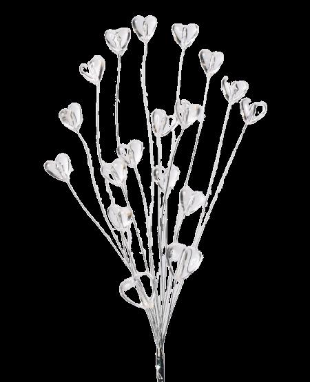 Coeurs sur câbles - Transparent