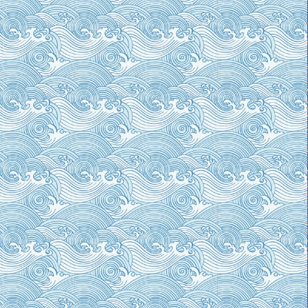 Papier de contact – Vagues Bleu