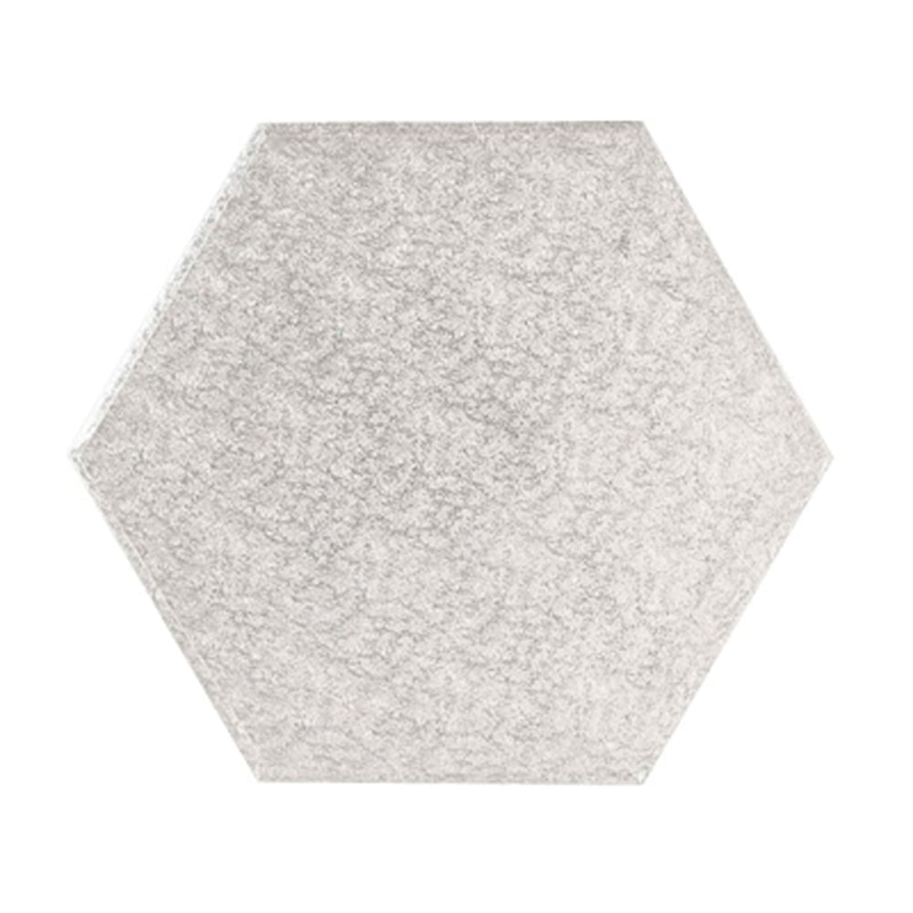 Plateau à gâteaux Hexagone - Argent - Choisir la taille