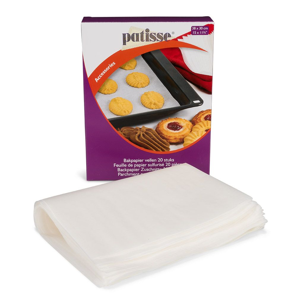 Papier cuisson Rectangle – Lot de 20
