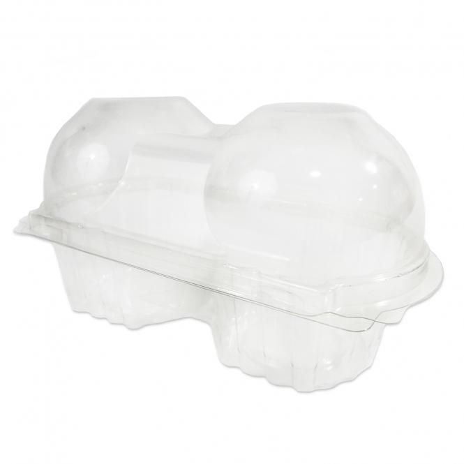 Boîte pour 2 cupcakes - Transparent