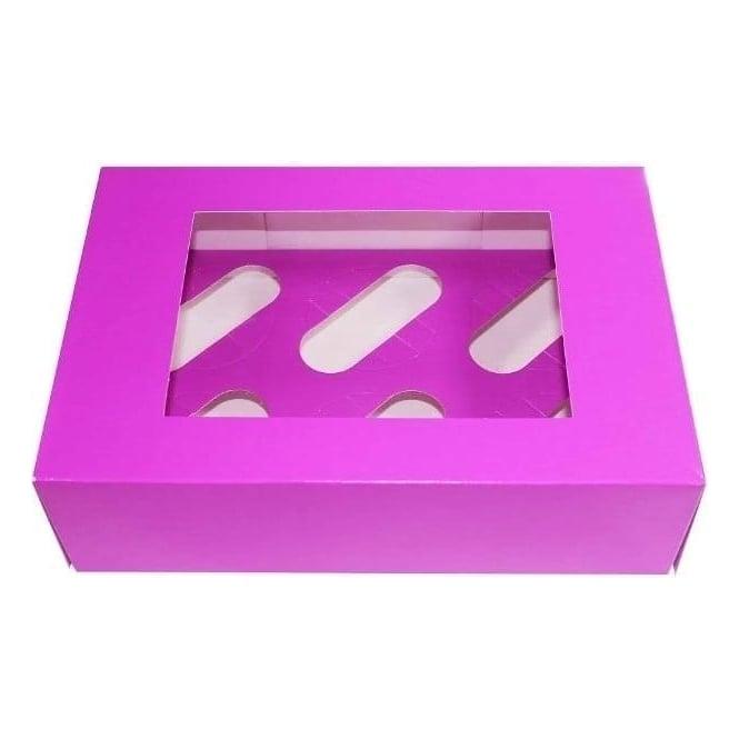 Boîte pour 6 cupcakes – Violet