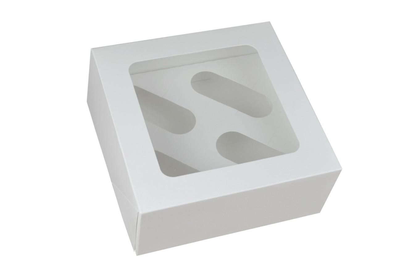 Boîte pour 4 cupcakes – Blanc