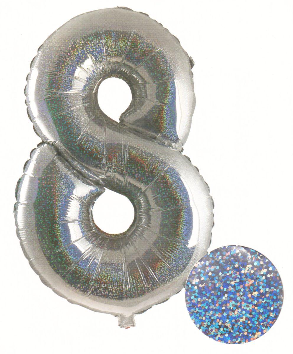 Ballon – Numéro 8 - Argent