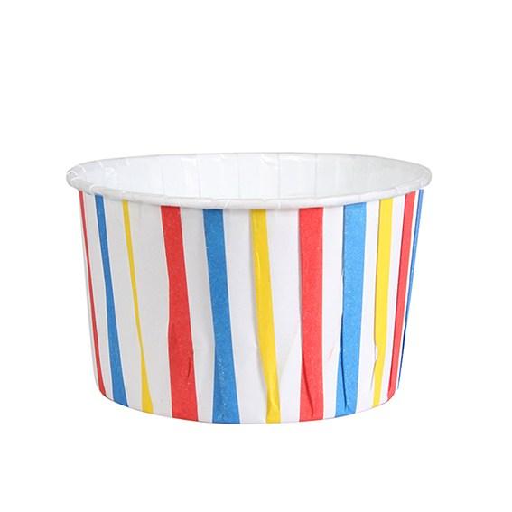 Caissettes à cupcake  – Rayures multicolore - Lot de 24