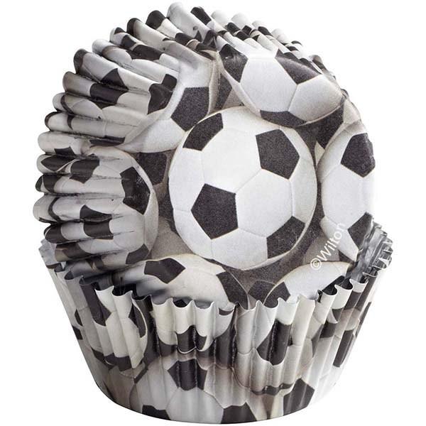 Caissettes à cupcake - Football - Lot de 36