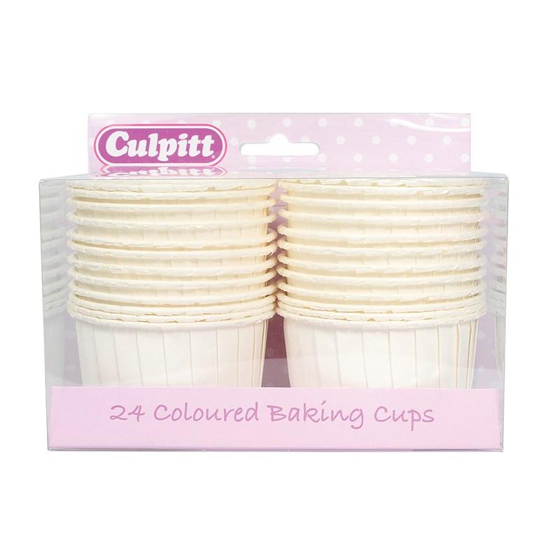 Caissettes à Cupcakes – Ivoires – Lot de 24
