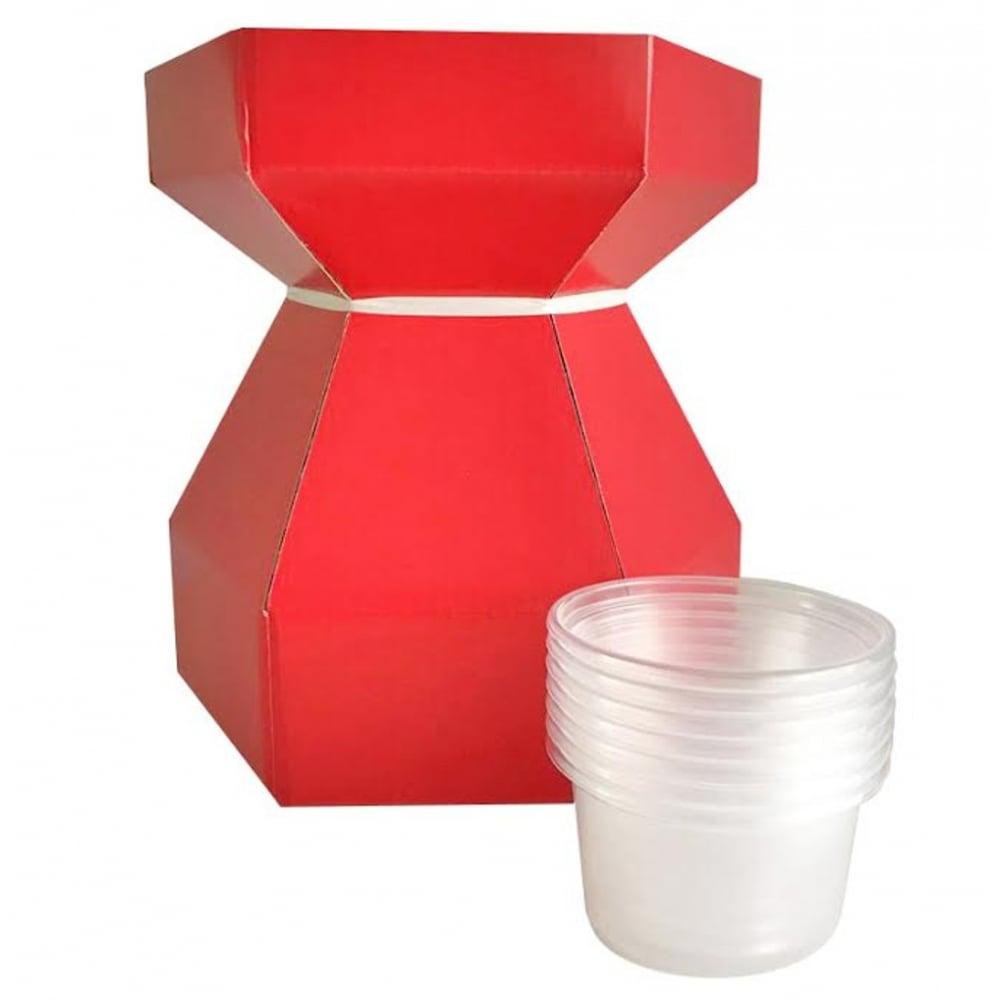 Boîte à bouquet pour cupcake – Rouge