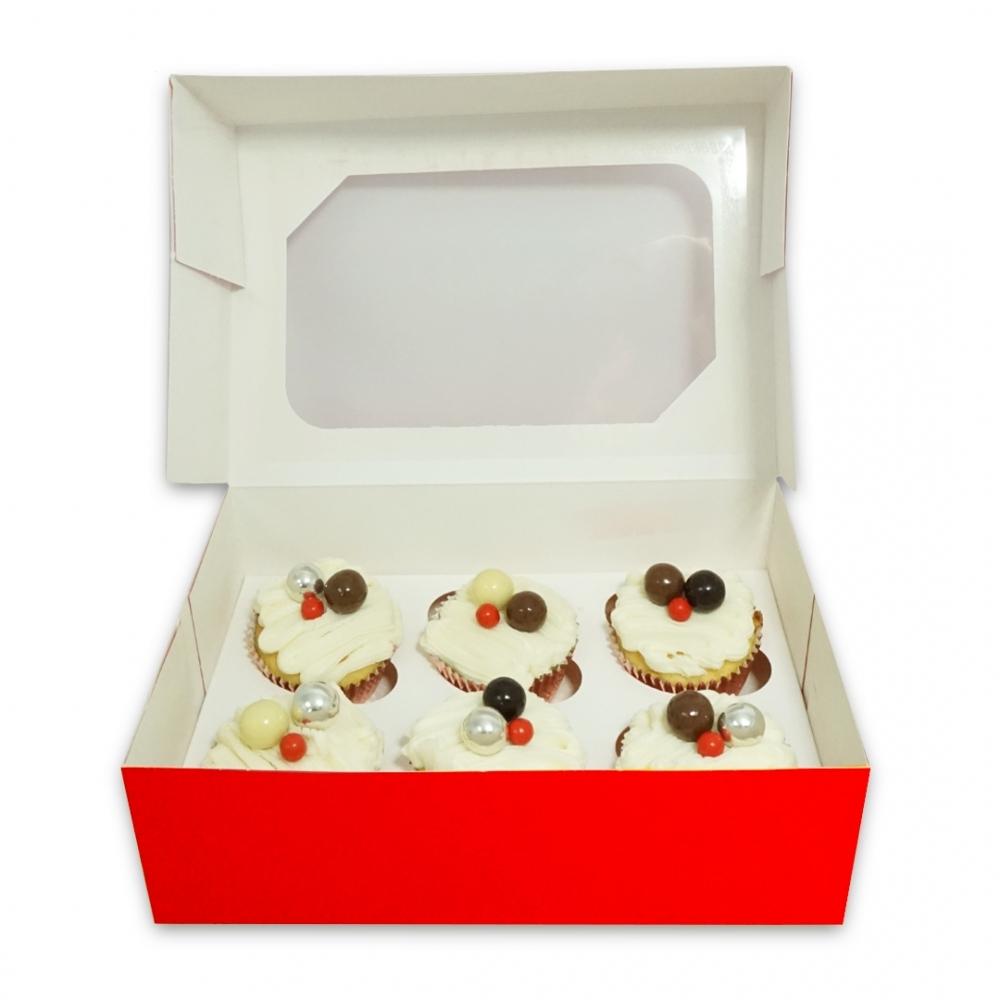 Boîte pour 12 cupcakes – Rouge