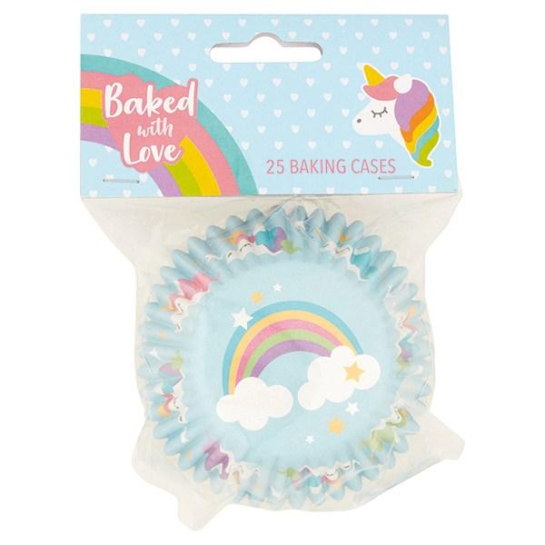 Caissettes à cupcake – Arc en ciel - Lot de 25