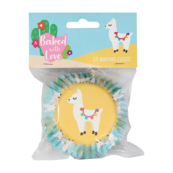 Caissettes à cupcake – Lama - Lot de 25