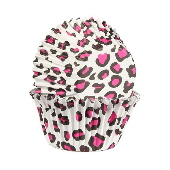 Caissettes à cupcake – Léopard rose- Lot de 25